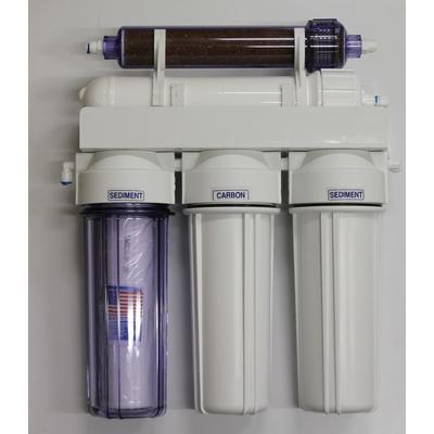 Reverzní osmoza 75 GPD PRO RO/DI filtr a oplachový ventil - 1