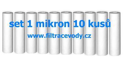 Filtrační vložka pro filtr reverzní osmózy 1 mikron 10 kusů