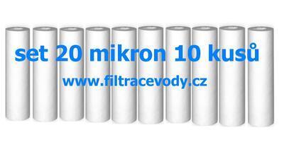 Filtrační vložka pro filtr reverzní osmózy 20 mikron 10 kusů