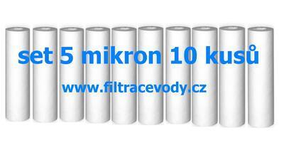 Filtrační vložka pro filtr reverzní osmózy 5 mikron 10 kusů